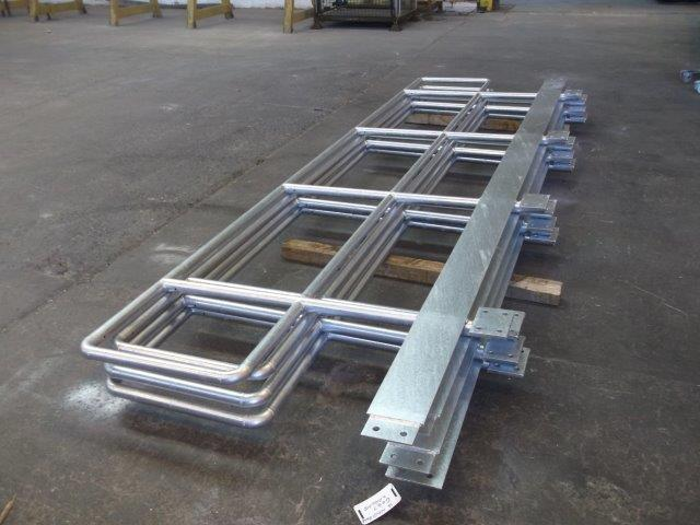 steel railings galvanized for the Dragon Heart's Hospital in Cardiff