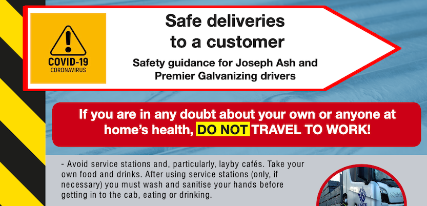 Delivery Safety alert poster