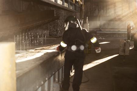 Premier Galvanizing worker wearing PPE
