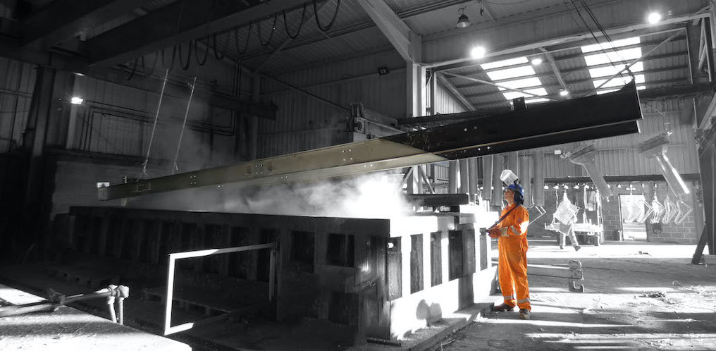 Worker at Premier Galvanising Plant in Hull